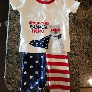 Gymboree 12-18 month short sleeve and shorts PJs